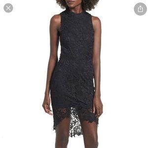 ASTR Samantha Lace Dress Black Sz S/ Sz 6 NWT
